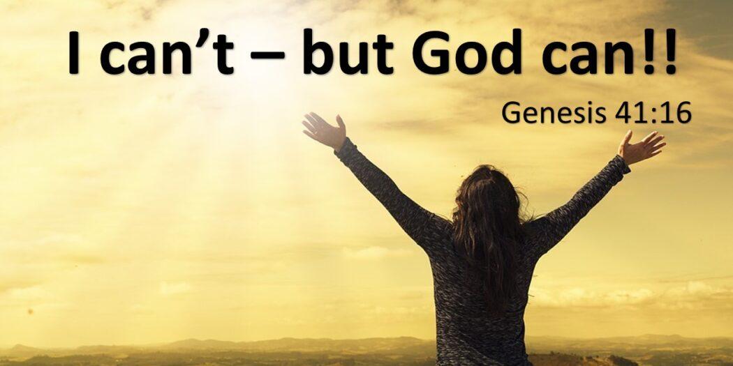 من نمی توانم خدایا تو می توانی
